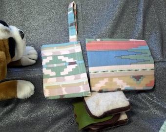 Reusable Sandwich N Snack Bag Set,  Southwest Stripes Print