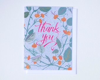 Rose Hip Thank You Card