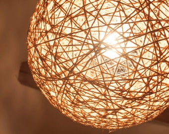 Pendant lamp handmade lamp shade ceiling lamp hanging lamp natural light brown yarn lamp handmade lamp shade nautical style pendant lamp aloadofball Images