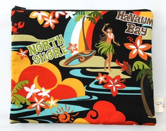 Hawaiian Hula Girl zipper bag