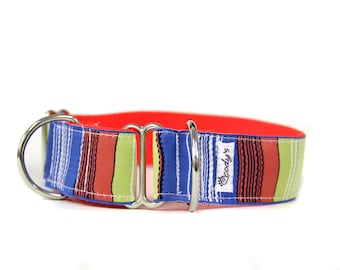 Wide 1 1/2 inch Adjustable Buckle or Martingale Dog Collar in Ripley