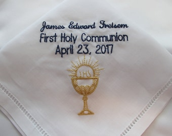 Embroidered Baptismal Handkerchief