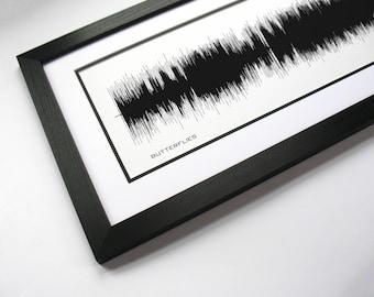 "Song Print ""Butterflies"" - Art Created From Song"