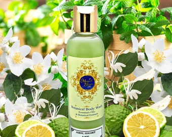 Jasmine Citrus Bergamot & Mint, Body Wash, Shower Gel, Liquid Body Soap