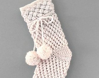 Crochet Pattern for Christmas Stocking, Ivory Snow Aran PDF16-280