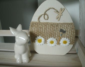 Recycling 3 wooden Easter egg