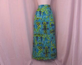 """Vintage Maxi skirt, Long Skirt, Modest Skirt  30"""" waist Hippie Granny Skirt,"""
