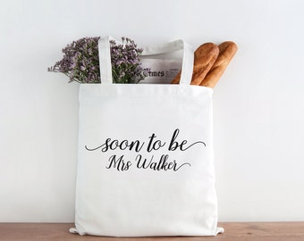 Soon to be Mrs tote, mrs tote, bride, bride gift, wedding gift, wedding tote, bridal shower gift, mrs, bachelorette gift