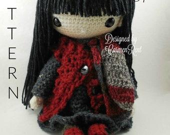 Tania-Amigurumi Doll Crochet Pattern PDF