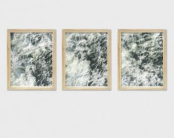 Set of 3 Ocean Wave Prints, Ocean Waves Triptych, Coastal Photo Prints, Crashing Waves Photo Prints, Atlantic Ocean Waves, Beach Wall Art
