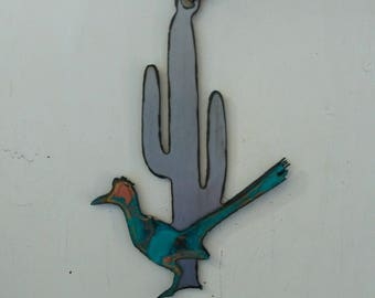 Patina Road Runner Saguaro Ornament