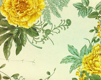 Yellow Blossom Vintage Pattern Fabric