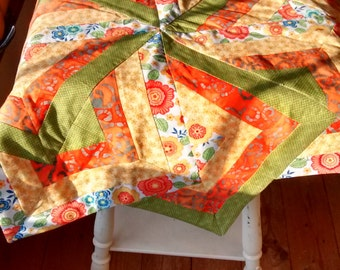 Boxed star quilt topper