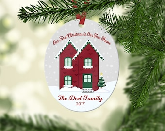 Our First Home Christmas Ornament, Personalized Christmas Ornament, New Home Christmas Ornament, Stocking Stuffer