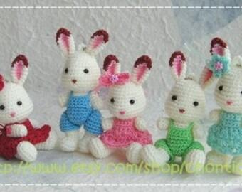 Mini Rabbit 2.5inches - PDF amigurumi crochet pattern