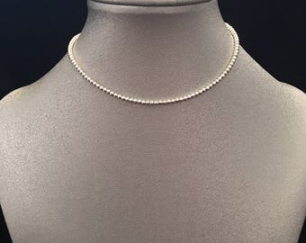 Dainty Sterling Silver Choker Necklace