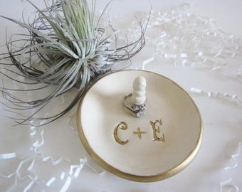 Wedding Ring Holder, Personalized Ring Dish, Ring Dish Wedding Gift for Couple, Bridesmaid gift