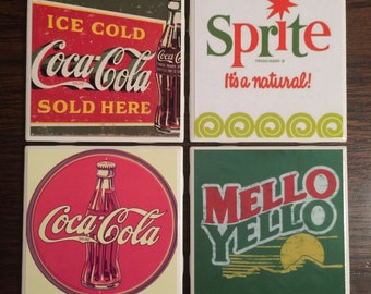 Coca-Cola Themed Coasters-Set of 4