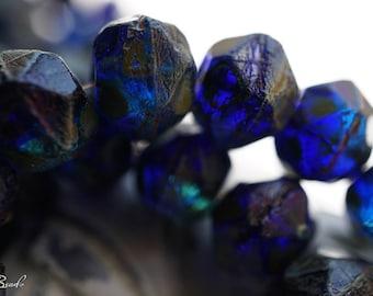 Oceanic Blue, Czech Beads, English Cut Beads, D103