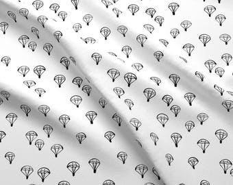 Black + White Parachute Fabric - Parachutes Blach/White By Meissa - Gender Neutral Nursery Decor Cotton Fabric By The Yard With Spoonflower