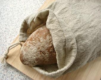 Linen bread bag - Linen reusable bag - Linen Drawstring   bag   - Gift bag - Linen  Storage Bag - Kitchen Storage
