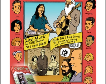Carter Family Ballard Library book event poster giclee print by David Lasky