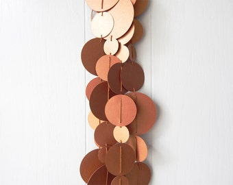 Copper Circle Garland Wedding Decoration New Years Decor Party Decor Photo Prop Holiday Decor