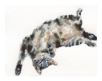 """8X10"""" Tabby Cat Print, Watercolour Print, Watercolor Cat, Watercolor, Cat Lover Gift, Animal Lover Gift, Tabby Cat, Cat Lover, Kitten"""