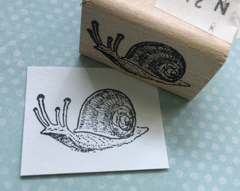 Small Snail Rubber Stamp