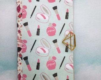 Makeup Standard Travelers Notebook Pocket Folder | Planner Folder | Laminated