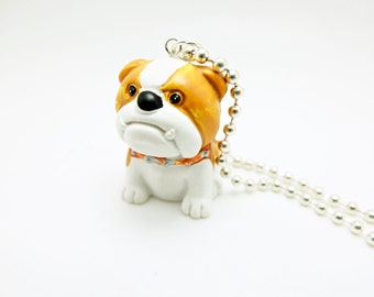 english bulldog charm necklace