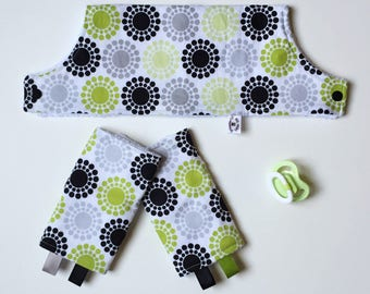 Beco Gemini Drool Pads and Bib SET -Ready to Ship - Sun Spots