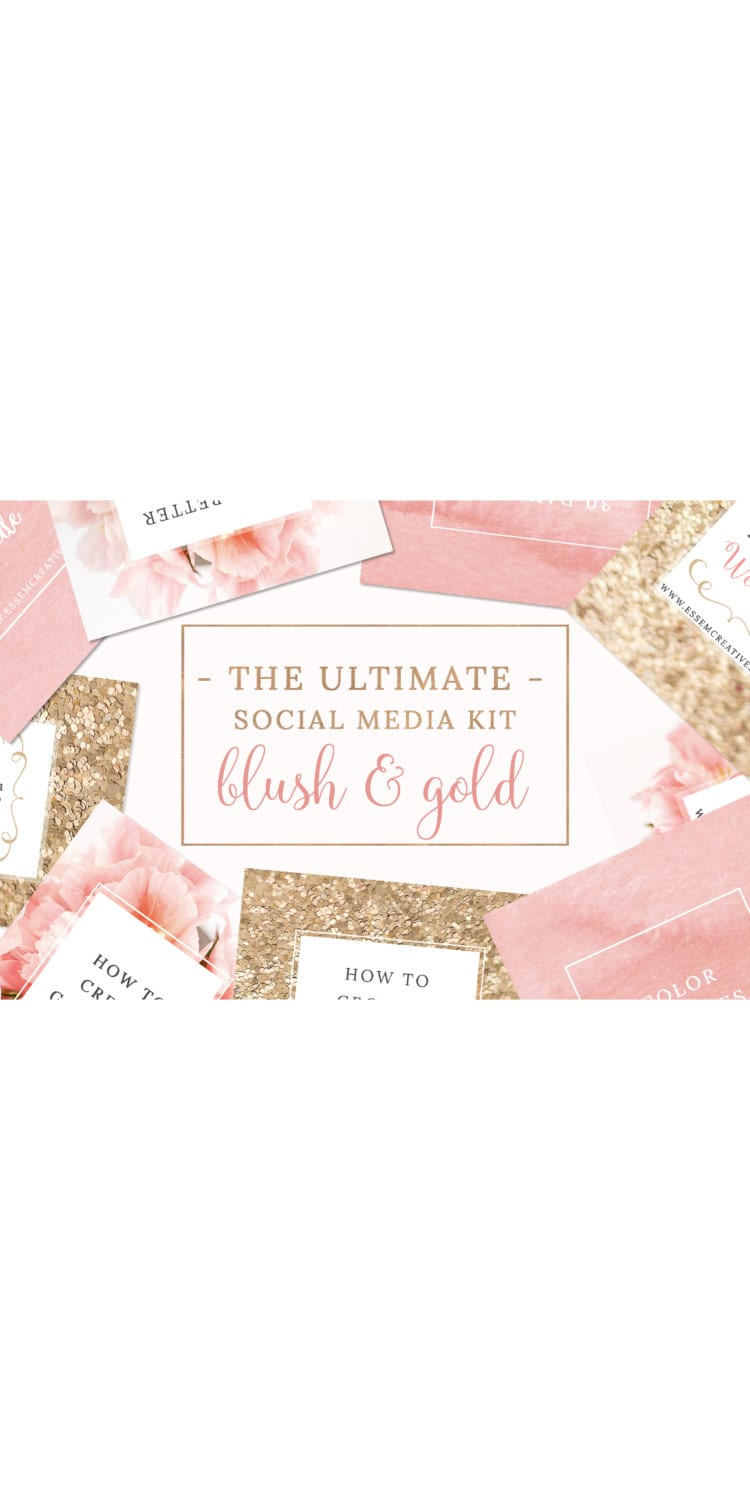 Blush and Gold Social Media Templates Blush Pink Branding