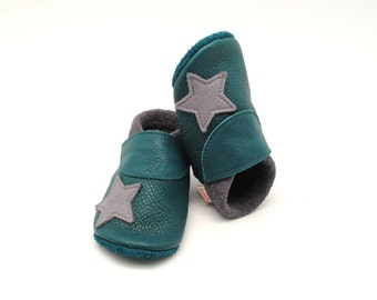baby shoes, baby booties boy, baby slippers, leather baby shoes, leather slippers, colourful child footwear, vegetable tanned leather