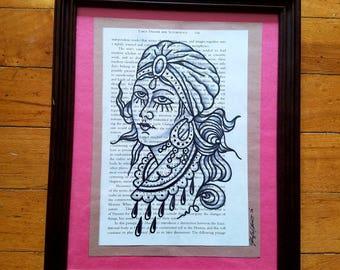 Traditional Gypsy - Tattoo Flash Style