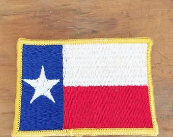 Texas Flag Patch 1970 Texas Flag Embroidery Patch Sew On Texas Flag Patch 2 x 3 inch Texas Flag Embroidery Patch