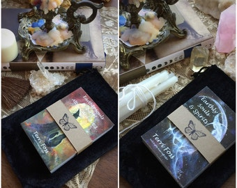 Last one! Retiring Terri Foss Both ALTAR Sets 1 & 2 Earthly Souls Spirits® ACEO 100 Cards Witch Cat Halloween Moon Print Free Pouch