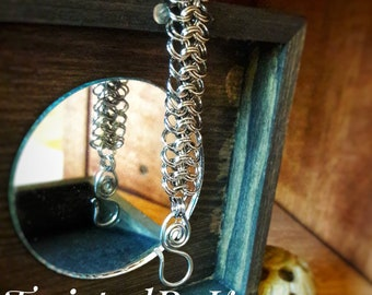 Handmade, Kings Mail Weave Stainless Steel, Chain Maille Bracelet 23 Gauge, 7.5in, Free Shipping & Sizing On Request TwistedByKen TBK061218