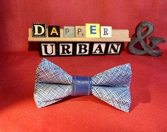Blue Lines Bow Tie