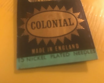 Vintage Colonial Embroidery 2 - 15 Nickel Plated Needles  Made in England