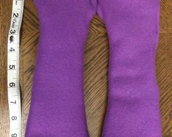 Custom Color Fingerless Gloves - Soft Fleece - Any Colour - Made to Order