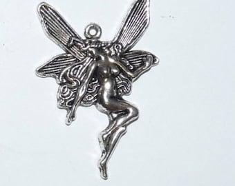 set of 5 fairy goddess 21x15mm Tibetan silver charms pendants