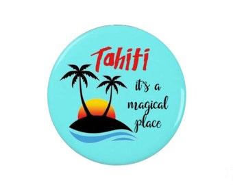 Agents of SHIELD  - Tahiti Pin Badge - it's a magical place -  Magnet  Badge - Shield
