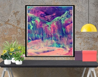 Large abstract painting, Giclee print, modern Wall Art Print, original Living Room, Canvas abstrat Art, wall art, modern original  artwork