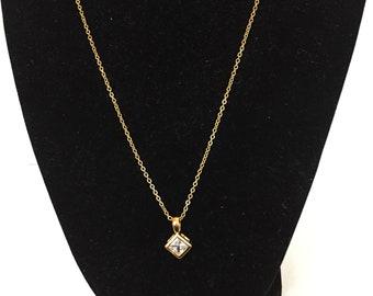 Cubic Zirconia Diamond Shape Necklace