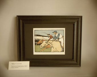A Cecil Aldin Print of Horse Racing taken from an old print 1901