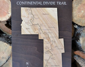 The Continental Divide Trail Wood Map