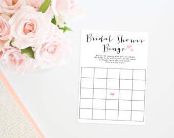 Printable Bridal Shower Bingo Cards, Bridal Shower Bingo, Bridal Shower Game, Bridal Bingo, Bridal Shower Printable