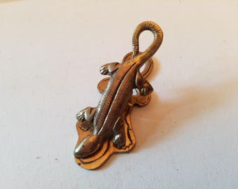 Alligator brass paper clip