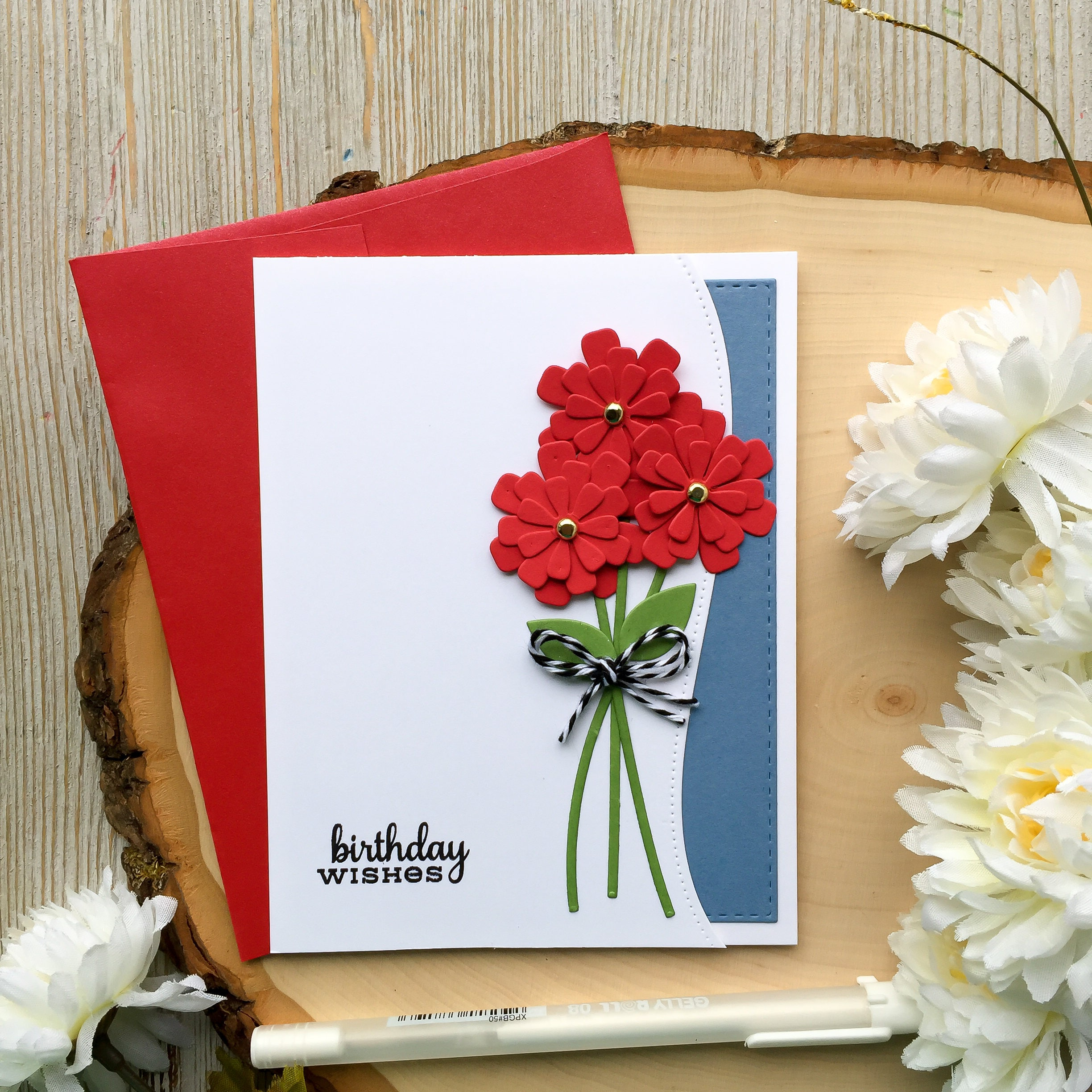 Handmade birthday card flower birthday card happy birthday zoom izmirmasajfo Choice Image